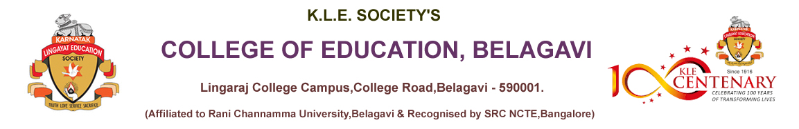 K.L.E. B.E.d College, Belagavi.